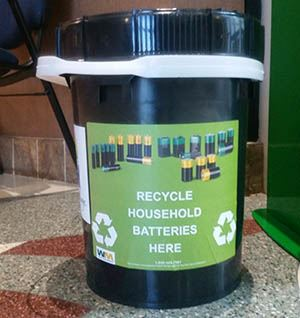 Battery Recycle Buckets