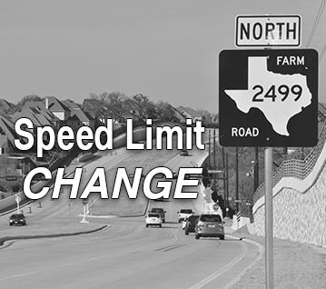 FM 2499 Speed Limit Change