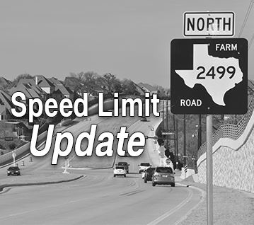 FM 2499 Speed Limit Update