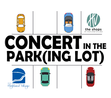 Concert in Park(ing lot) with logo