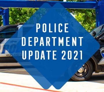 Image of Police Cars and Title Police Department Update 2021