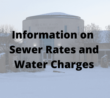 Information on Sewer Rates and Water Charges