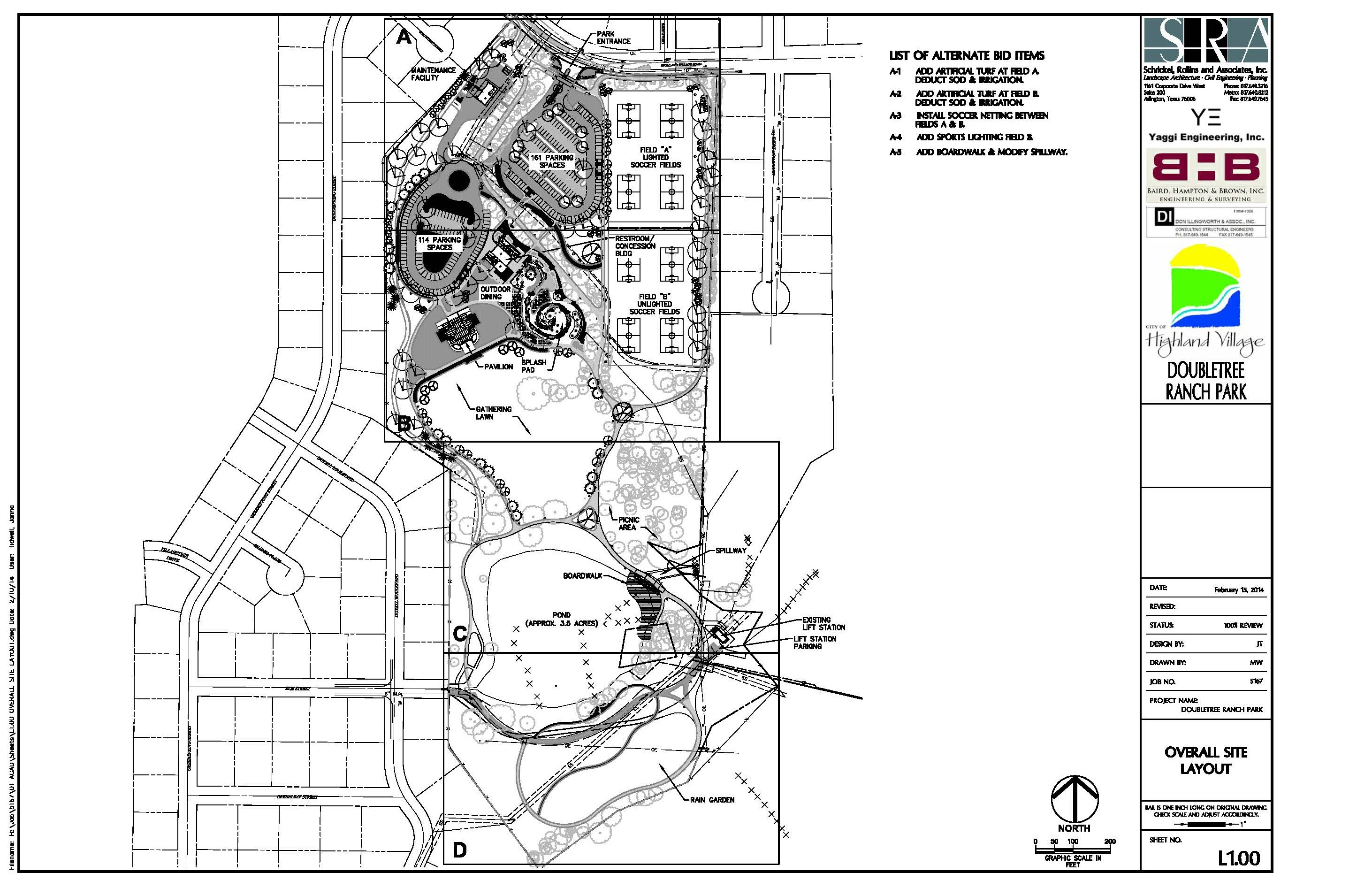 DOUBLETREE RANCH PARK OVERALL SITE PLAN