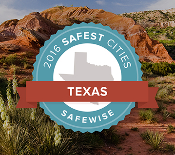 2016 Safest Cities Badge